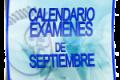 Calendario de exámenes – Septiembre 2014